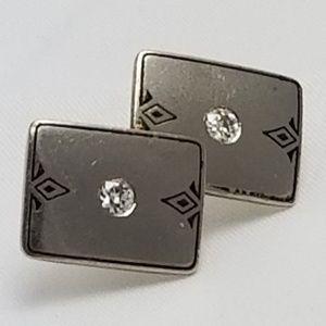 18k White Gold Diamond .06 ct Pin Brooch